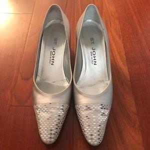 St. John Silver Dress Shoes